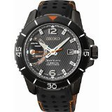 Seiko SRG021P1 Men's Sportura,Kinetic Direct Drive,Stainless Steel Case With Leather, Water Resistant