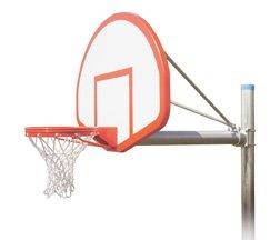 最初チームRenegadeフライトsteel-fiberglass in ground固定高さバスケットボールsystem44 ;サドルブラウン B01HC0D6LK