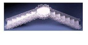 Wedding Filigree (Item#36064 - White Princess Wedding & Anniversary Wedding Cake Step Decoration Filigree Bridge & Stair Set-White)