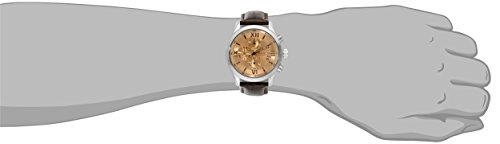 GUESS Men s U0192G1 Brown Classic Crocodile-Grained Leather Strap Chronograph Watch
