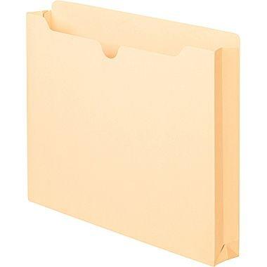 """Staples Manila Expanding File Jacket, 1"""", Letter, 50/Box"""