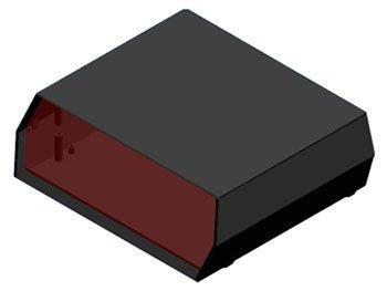 Caja Plastico Teko D14 Negro - Caja de poliestireno Anti-Shock con ...