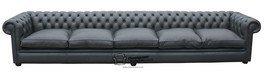 Chesterfield 457,2 cm sofá de cuero