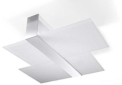 Plafoniere Con Animali : Sollux lighting massimo plafoniera acciaio colore: bianco