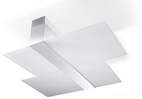 Plafoniera Ufficio Prezzo : Sollux lighting massimo plafoniera acciaio colore bianco