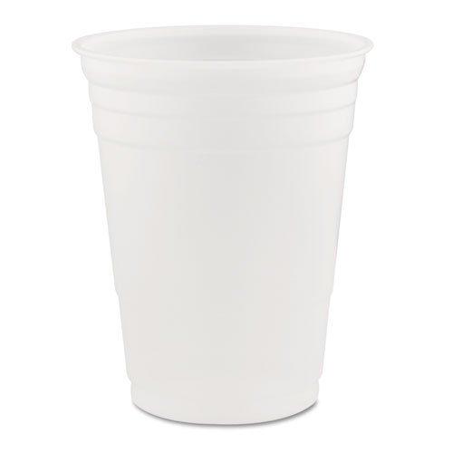 DART P16 Conex Translucent Plastic Cold Cups, 16 oz., (Case of 1,000) Boardwalk Translucent Plastic Cups