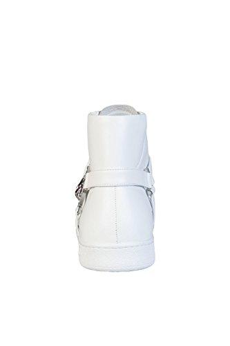 Versace Versus Fsx006c Top In Pelle Bianco Trainer Bianco
