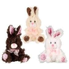 - Fuzzy Friends 3 Chocolate-Scented Plush Stuffed Easter Bunny Rabbit 9