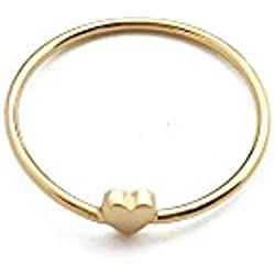 HONEYCAT 24k Gold Tiny Heart Ring | Madewell, Minimalist, Delicate Jewelry, Celebrity Style Valentine's Day gift