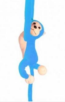 Long Arm Hanging Monkey Toy Colorful New Hot-selling Monkey Doll (Blue) by (Diy Russian Costume)