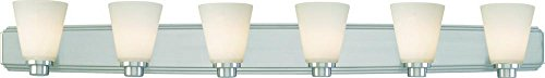 Dolan Designs 3406-09 6Lt Bath Satin Nickel Southport 6 Light Bathroom Fixture ()