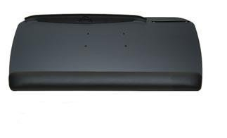 WorkRite CB-185-25 Classic Black 27'' KeyBoard Tray w/ Foam Wrist Rest (Arm Not Included, Tray Only) by Workrite