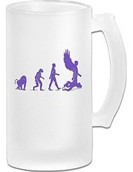 Transhuman Evolution Frosted Glass Pub Big Beer Cup - 500ML