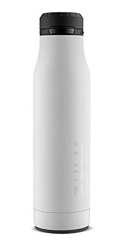 ZULU Ace 24oz Stainless Steel Water Bottle with Removable Base (White)