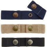 Dapper Snapper Baby & Toddler Adjustable Belt- Boy's 3Pack: Navy, Beige and Black