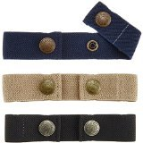 Dapper Snapper Baby & Toddler Adjustable Belt- Boy's 3Pack: Navy, Beige and Black