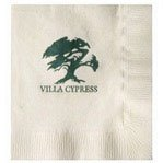 Vanilla 3-Ply Beverage Napkins - 500 napkins - Custom Printed by PLX Industries