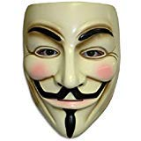 Guy Fawkes V Vendetta Mask Anonymous Fancy Cosplay Costume ()