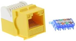 GOWOS Cat.6 Tool Less Keystone Jack Yellow