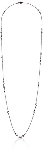 Freida Rothman Womens Signature Cluster DBY 36-Inch Chain Necklace, Black & White, Size 0