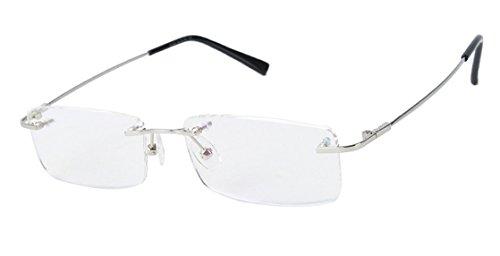 Agstum Herren Randlos Brillengestell Mehrfarbig Silber
