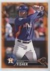 Derek Fisher #/25 (Baseball Card) 2016 Bowman Draft - [Base] - Orange Border #BD-138 (Fisher Orange Baseball)