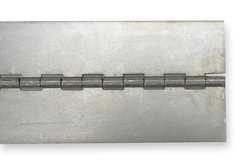 Battalion 2ZGC3 Hardware - screws not included - Hinge, Continuous, Plain, Aluminum, 48X3