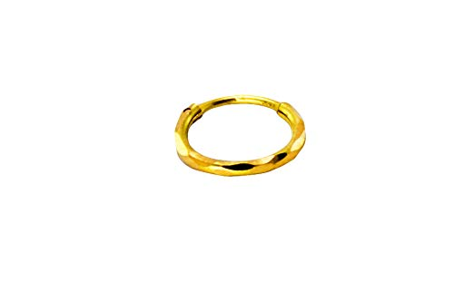 Buy Jj Jewellers 18k 750 Small Gold Nose Sania Mirza Ring For