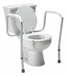 GF Health 6460A Versaframe Toilet Safety Rail with Adjustable Height (Pack of 4)
