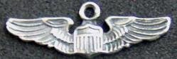 WWII AAF Pilot Wing Charm Sterling; P-1594 for sale  Delivered anywhere in USA