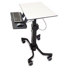 * TeachWell Mobile Digital Workspace, 31wx24 1/8d x 31 7/8h to 51 7/8h, Gray/Black by Reg