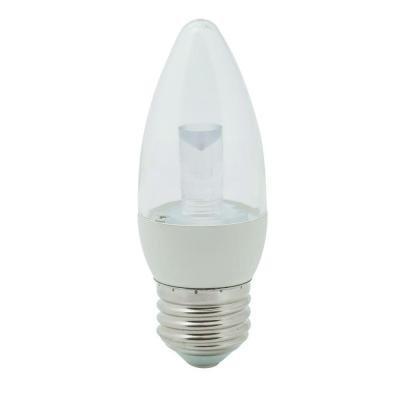 EcoSmart 40W Equivalent Soft White (2700K) B11 Clear Blunt Tip Decorative LED Light Bulb (E26)
