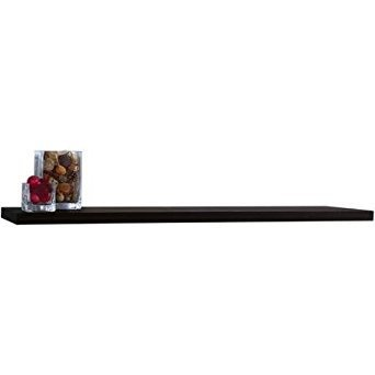 Cheap Floating Wall Shelf, Black, 60″W