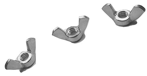 Serval Products 10-32 Wing Nut Stainless Steel 18-8 (304) Butterfly Nut Pack 25 by Serval Products (Image #2)