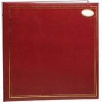 MBI Library Collection 3-Ring Photo Album with Solid Color Cover with Gold Trim, Holds 100 up to 7'' x 11'' Photos, 1 Per Page by MBI