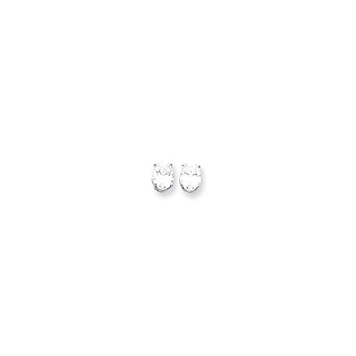 (14k White Gold 9x7 Oval Earring Mountings Length 9 Width 7)