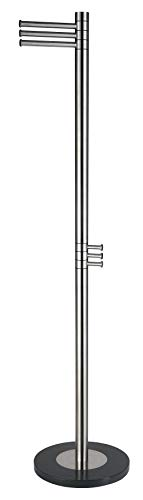 Cortesi Home Contemporary Stainless Steel Finna Coat Rack, Brushed Nickel