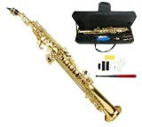 Merano GWD500GD B Flat Gold Soprano Saxophone Case by Merano