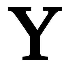 Village Wrought Iron LET-Y-S Letter Y Small