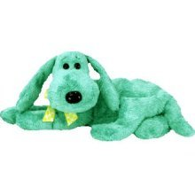 TY Beanie Babies Diddley the Fantasy Dog Stuffed Animal Plush Toy - 8 inches long - Turquoise