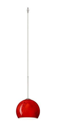 Besa Lighting XP-5658MA-SN 1X50W Gy6.35 Palla 5 Pendant with Magma Glass, Satin Nickel - Palla Pendant Mini 5
