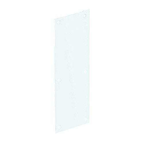 Prime-Line Products J 4923 Push Plate with Acrylic and Clear/Transparent, Smooth Finish, 3/16