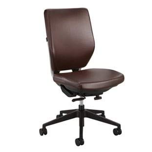 Safco Sol Task Office Chair in Brown Vinyl