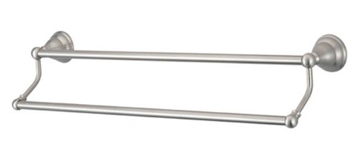 - Kingston Brass BA556318SN Royale 18-Inch Double Towel Bar, Satin Nickel