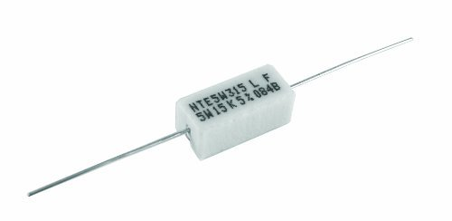 NTE Electronics 5WD18 Through Hole Resistor, Wire Wound, Axial Leaded, 5% Tolerance, 0.18 Ohm Resistance, 5W, 550V