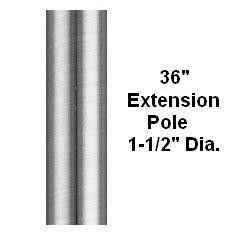 Fanimation EP36OB Extension Pole, 36-Inch, Oil-Rubbed Bronze