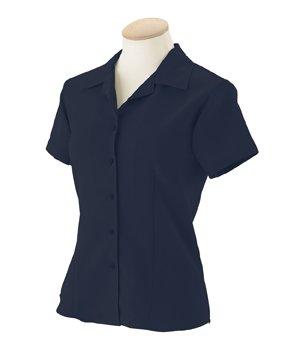 Harriton Ladies' Bahama Cord Camp Shirt, Navy, ()