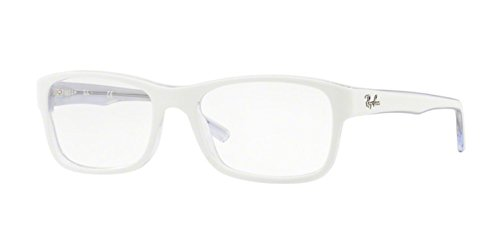 Ray-Ban RX5268 Eyeglasses Top White On Trasparent - Bans Ray White