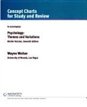 Psychology: Themes and Variations (Concept Charts for Study and Review to Accompany, Briefer Version