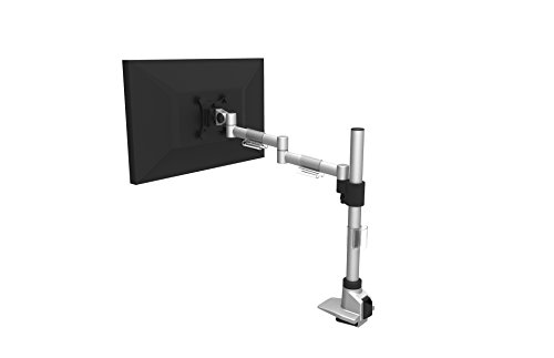 Attollo Desk - Single Monitor Desk Mount Stand - Heavy Duty Fully Adjustable - EZ Clamp Design - Tilts – Pivots – Swivels – Holds 1 Screen up to 30""